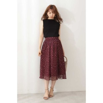 PROPORTION BODY DRESSING / プロポーションボディドレッシング  シフォンレオパードスカート