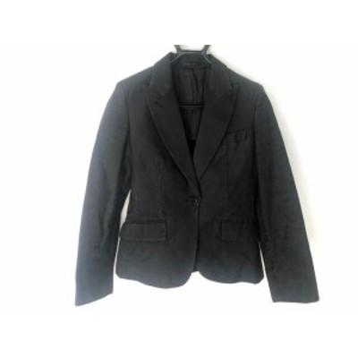 マーガレットハウエル MargaretHowell ジャケット サイズ2 M レディース ダークグレー×ダークネイビー【中古】