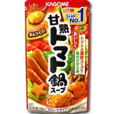 【送料無料】カゴメ 甘熟トマト鍋スープ(ストレートタイプ)750g×1ケース(全12袋)