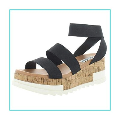 Steve Madden Women's Bandi Black Sandal 8 US【並行輸入品】