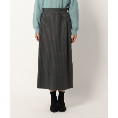 THE SHOP TK(Women)(ザ ショップ ティーケー(ウィメン))リラックスプリーツニットスカート【SETUP対応】