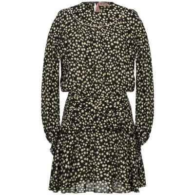 ヌメロ ヴェントゥーノ N°21 ミニワンピース&ドレス ブラック 40 シルク 100% ミニワンピース&ドレス