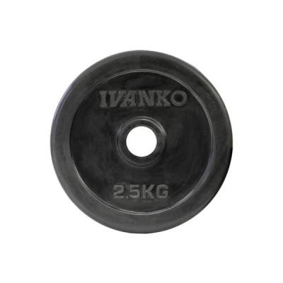 イヴァンコ トレーニング ギア IV RUBK-2.5kg スタンダード ラバー プレート 6012009200250 IVANKO