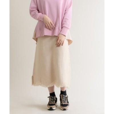 スカート 【KATHARINE ROSS】裾フリンジニットスカート