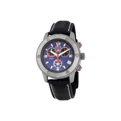 腕時計 スイスミリタリー メンズ Swiss Military Rallye GMT Chronograph Blue Dial Men's Watch 27471