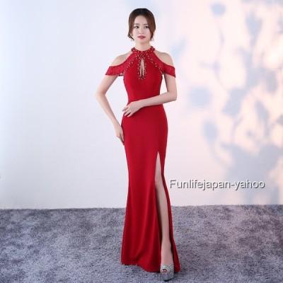 レディース ロングドレス フォーマルウエア 2019 新品 セクシー イベント 映画祭 忘年会