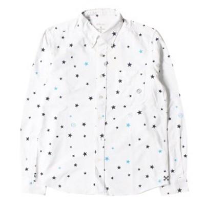 UNIFORM EXPERIMENT (ユニフォームエクスペリメント) スター柄オックスフォードボタンダウンシャツ ホワイト 2 【中古】【K2414】