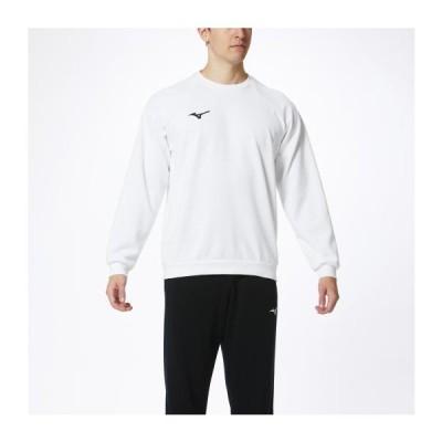 ミズノ スウェットシャツ(クルーネック) ホワイト Mizuno 32MC0175 01