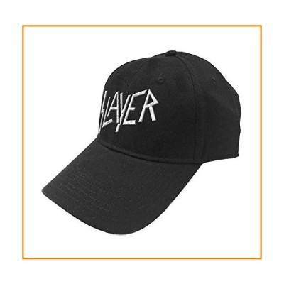 Slayer ベースボールキャップ Classic Band Logo Sonic シルバー 新しい 公式 ブラック Strapback Size One Size_並行輸