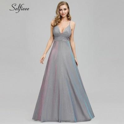バックレス ドレス キラキラ Aライン サマー