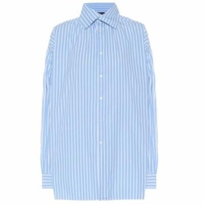 ラルフ ローレン Polo Ralph Lauren レディース ブラウス・シャツ トップス Striped cotton shirt blue