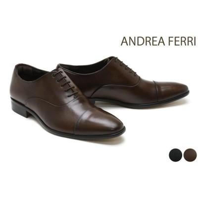 アンドレア フェリ / ANDREA FERRI メンズ ドレスシューズ f44 ストレートチップ(キャップトゥ) ブラック ダークブラウン イタリア製