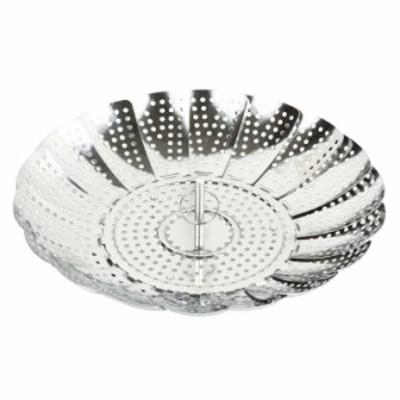 ● パール金属 クッキーフリーサイズヘルシースチーマー CC-1185 キッチン 蒸し器 時短調理 16~24cmの鍋に対応