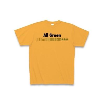 麻雀の役 All Green-緑一色- Tシャツ(コーラルオレンジ)
