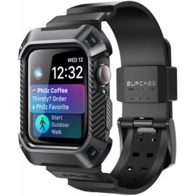 Apple Watch Series 5/4 保護ケース バンド 44mm 衝撃吸収 アップルウォッチ シリーズ 4 / 5 対応 カバー ブラック