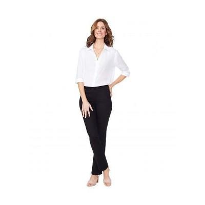 NYDJ Petite エヌワイディージェー レディース 女性用 ファッション ジーンズ デニム Petite Pull-On Straight Jeans in Black - Black