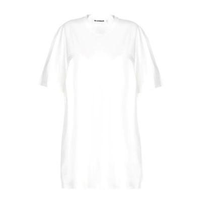 JIL SANDER Tシャツ  レディースファッション  トップス  Tシャツ、カットソー  半袖 ホワイト