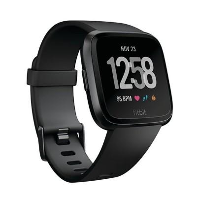 Fitbit VERSA FB505GMBK ブラックベルト 光学式心拍計 L/Sサイズベルト スマートウォッチ
