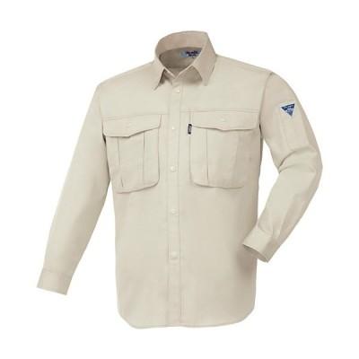 ジーベック(XEBEC) プリーツロンミニ長袖シャツ 31/アイボリー 1293 作業服 作業着 ワークウエア ワークウェア メンズ レディース