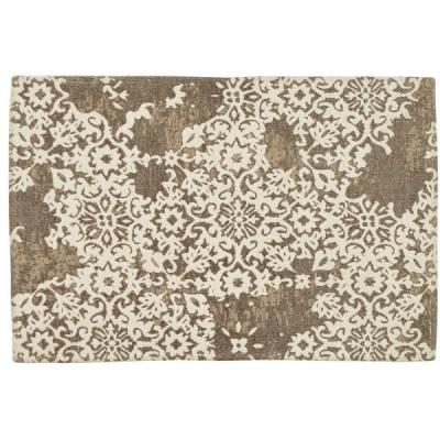 萩原 270071330 重厚 ゴブラン織り ラグ バール 約130×190cm デザインラグ
