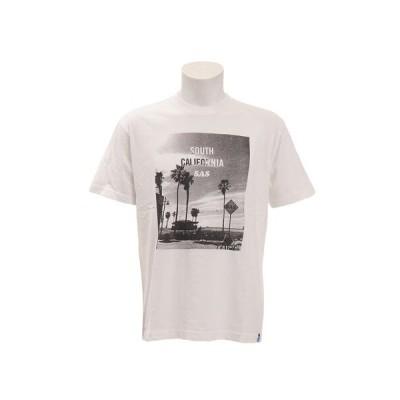 エスエーエス(SAS) ピグメントフォトTシャツ[SOUTH] SAS1857205-1-WHT 半袖 (メンズ)