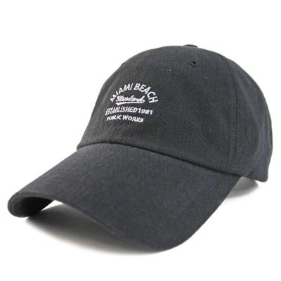 ウェルテイラード Well-Tailored カレッジロゴ刺繍キャンバスLOWキャップ (Black)