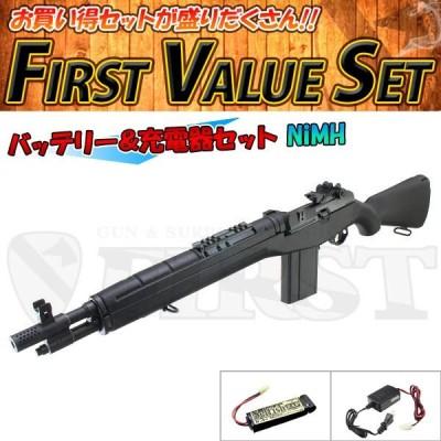 (3点セット品) エアガン 東京マルイ 電動ガン M14 SOCOM C.Q.B.ライフル .308 シンプルセット(マルチ) NiMH  4952839170859 fvs-a-ni