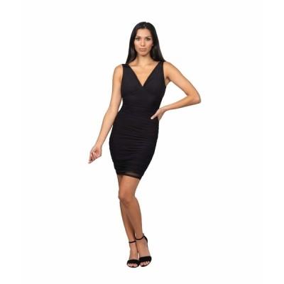 ベベ ワンピース トップス レディース Mesh Off-the-Shoulder Chiffon Dress Black