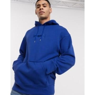 リーバイス メンズ パーカー・スウェット アウター Levi's relaxed graphic hoody Blue