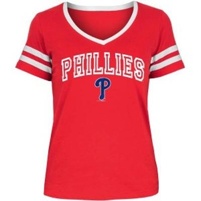 ニューエラ レディース Tシャツ トップス New Era Women's Philadelphia Phillies Tri-Blend V-Neck T-Shirt -