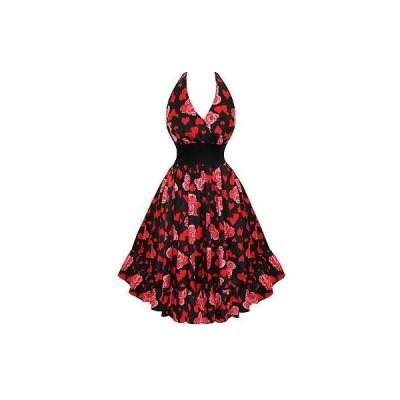 ハーツアンドローズロンドン ドレス ワンピース ハートs and ローズs London フローラル プリント Marilyn スタイル 50s ビンテージ サマー Sun ドレス