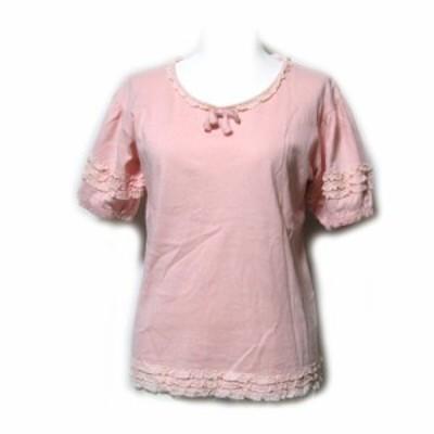 WONDERFUL WORLD KANEKO ISAO ワンダフルワールド カネコイサオ「S」フリルカットソー (PINK HOUSE ピンクハウス 半袖 Tシャツ) 099174