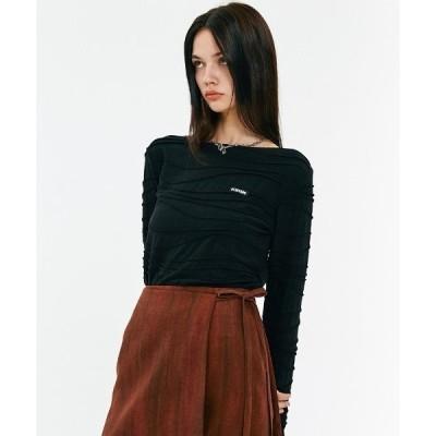 tシャツ Tシャツ SEWING STRIPE SLIM T-SHIRTS/ソーイングストライプスリムTシャツ