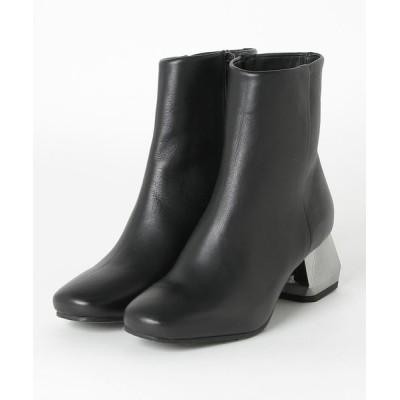 INTER-CHAUSSURES / 【MAKRIS】ブロックヒールスムースショートブーツ (E83009) WOMEN シューズ > ブーツ