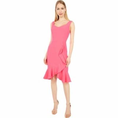 ランドリー LAUNDRY BY SHELLI SEGAL レディース ボディコンドレス タイト ワンピース・ドレス Ruffle Bodycon Dress Hot Pink