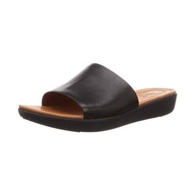 フィットフロップ サンダル SOLA Slides-Leather レディース Black 22.0 cm