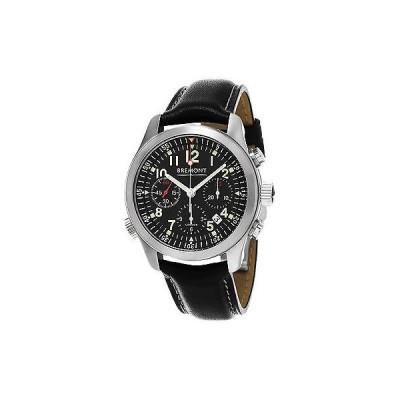 腕時計 Bremont Bremont メンズ ALT1-P/BK 'Pilot' ブラック ストラップ クロノグラフ オートマチック 腕時計
