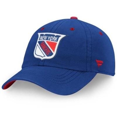 ユニセックス スポーツリーグ ホッケー New York Rangers Fanatics Branded Original Six Slouch Adjustable Hat - Blue - OSFA 帽子