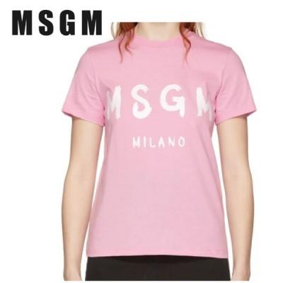 MSGM エムエスジーエム ピンク Milano ロゴ T シャツ191443F11000