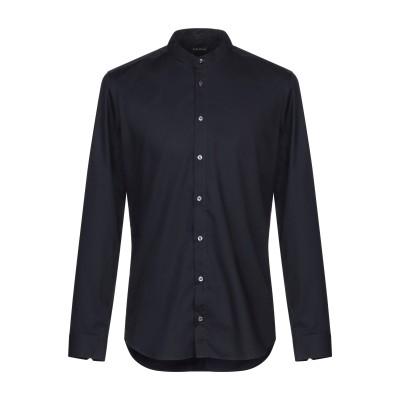 GAZZARRINI シャツ ダークブルー XL コットン 98% / ポリウレタン 2% シャツ