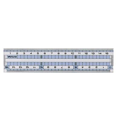 クツワ STAD コモグラス定規 15cm HS160C