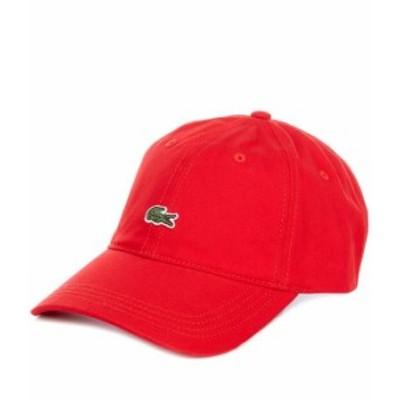 ラコステ メンズ 帽子 アクセサリー Small Croc Gabardine Cap Red
