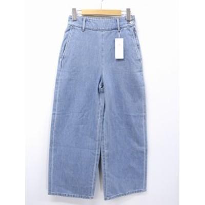 【中古】未使用品 ミューズリファインドクローズ MEW'S REFINED CLOTHES サイドボタン ワイド デニムパンツ 1