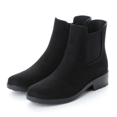 ブリジット バーキン Bridget Birkin クラシックサイドゴアレイン対応ブーツ (ブラックスウェード)