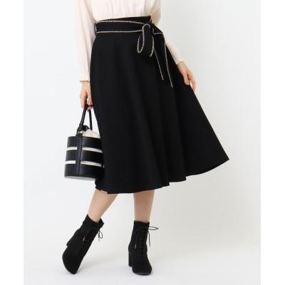 Couture Brooch(クチュールブローチ) ウールライクリボンベルトフレアスカート