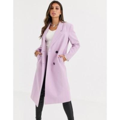エイソス レディース コート アウター ASOS DESIGN hero longline maxi coat in lilac Lilac