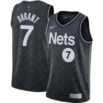 ナイキ Nike メンズ バスケットボール ドライフィット トップス Brooklyn Nets 2021 Earned Edition Kevin Durant Dri-FIT Swingman Jersey