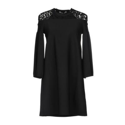 ヴァレンティノ VALENTINO ミニワンピース&ドレス ブラック XS コットン 71% / レーヨン 21% / ナイロン 8% / ポリエス