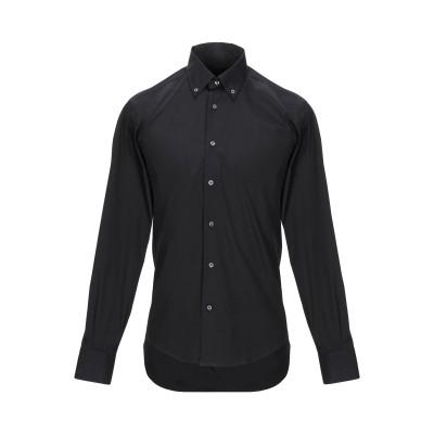 レ コパン LES COPAINS シャツ ブラック 39 コットン 78% / ナイロン 17% / ポリウレタン 5% シャツ