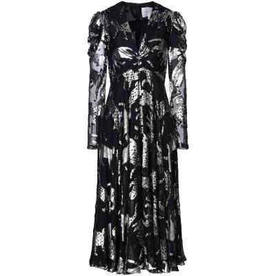 CAROLINA HERRERA 7分丈ワンピース・ドレス ブラック 4 Lurex® 44% / シルク 36% / レーヨン 20% 7分丈ワン